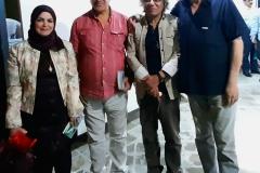 في قصر الثقافة والفنون مع مديره عبد الحق المظفر والشاعرة جنان المظفر