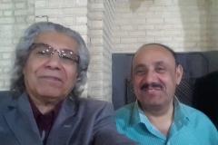 مع الصديق الناقد المسرحي الدكتور ياسر البراك