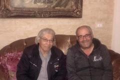 مع الكاتب المسرحي اللبناني ابو فراس 2019 في منزله