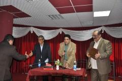 مع المخرج السينمائي الراحل نائب الشواف والمخرج السينمائي بهاء الكاظمي باحتفالية اصدار كتاب لي