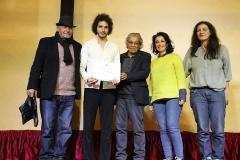 لجنة الحكم بمهرجان مونودراما المرأة مع الفنان بيير جعجع لبنان 2019